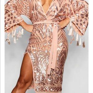 Boohoo Glitz & Glammer Dress